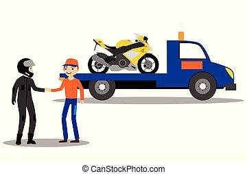 motorkerékpár, emelvény, csereüzlet