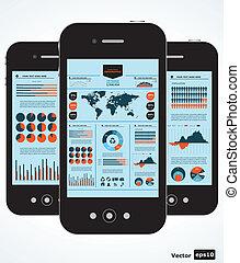 mozgatható, ábra, infographic., állhatatos