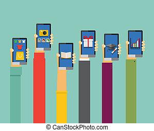 mozgatható, apps, ábra