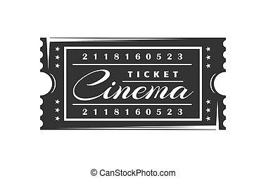 mozi, cédula, white háttér, elszigetelt