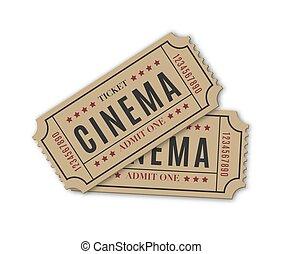 mozi, elszigetelt, white háttér, cédula