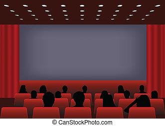 mozi, vetítés