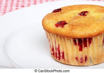 muffin, áfonya, tányér