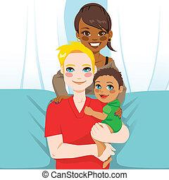 multi-, család, etnikai