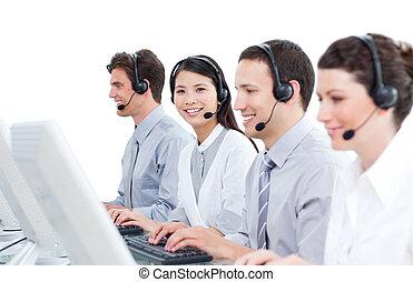 multi-cultural, középcsatár, dolgozó, hívás, ügynökök, vevőszolgálat