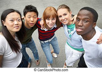 multicultural, barátok