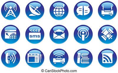 multimedia/communication, állhatatos, ikon