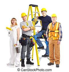 munkás, emberek, ipari