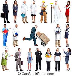 munkás, set., emberek