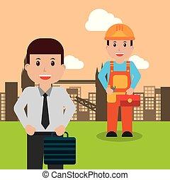 munkás, szellemi foglalkozás, emberek