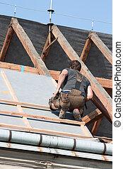 munkás, tető