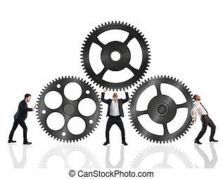 munka, csapatmunka, együtt