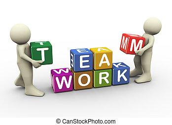 munka, emberek, 3, befog