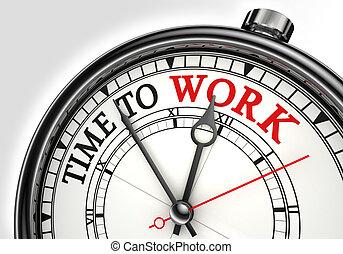 munka, fogalom, idő óra