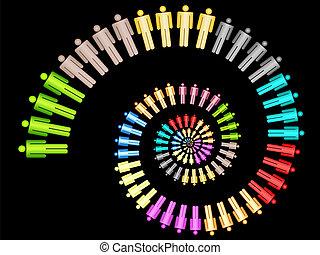 munka, fogalom, színes, ügy sportcsapat