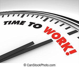 munka, -, idő óra