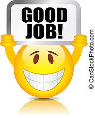 munka, jó, smiley
