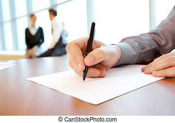 munka, terv, írás