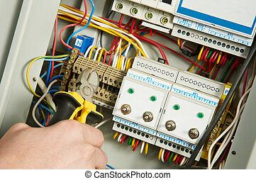munka, villanyszerelő
