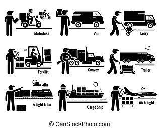 munkaszervezési, szállítás, állhatatos, jármű