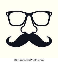 mustachioed, glasses., ember