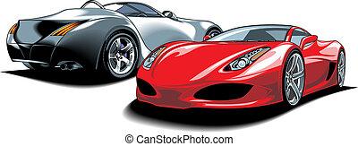 (my, design), sport, eredeti, autók