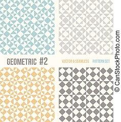 négy, példa, geometriai, állhatatos