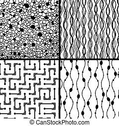 négy, példa, monochrom, állhatatos, geometrikus