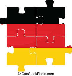 német lobogó, rejtvény