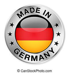 németország, elkészített, jelvény, ezüst