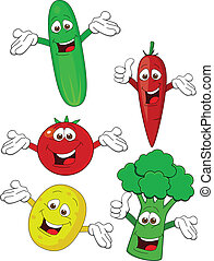 növényi, betű, karikatúra