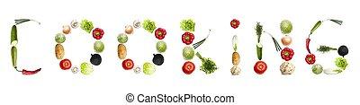 növényi, főzés, szó, elkészített