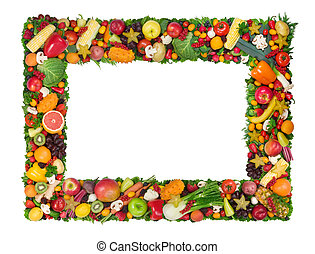 növényi, keret, gyümölcs