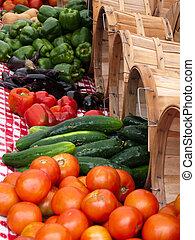 növényi, nyár, létrehoz, outdoor piac