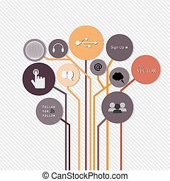 növekedés, sablon, fa, számozott, használt, megvonalaz, infographics, tervezés, fogalom, vektor, gondolat, website, kapcsoló, szalagcímek, horizontális, grafikus, modern, ábra, lenni, alaprajz, kreatív, vagy, konzerv