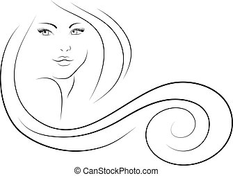 nő, hosszúhajú