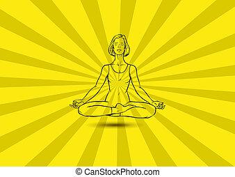 nő, jóga, gesztus