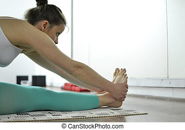 nő, jóga