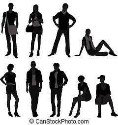 nő, mód, női, formál, hím, ember