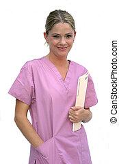nő, műtősruha