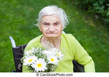 nő, menstruáció, felfogó, öregedő