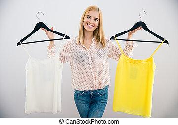 nő, ruha, eldöntés