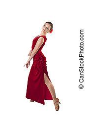 nő, ruha, tánc
