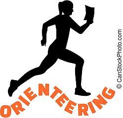nő, szó, orienteering