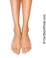 női, lábak