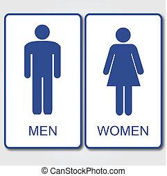 nők, férfiak, aláír