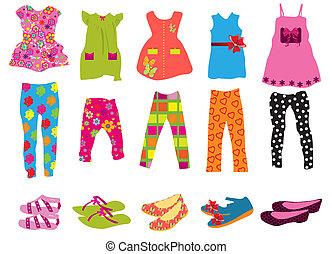 nők, gyermekek felöltöztet