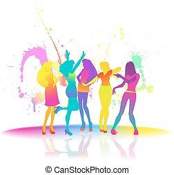 nők, tánc, disco