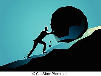 nagy, üzletember, megkövez, rámenős, hegynek felfelé
