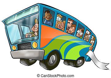 nagy, autóbusz